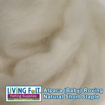 Alpaca Roving - Baby  Natural White