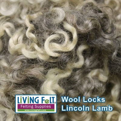Lincoln Natural Sheep Locks - Lamb Gray
