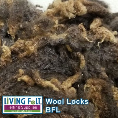 Natural BFL - Blue Faced Leicester - Dark Brown