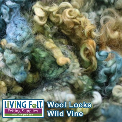 Dyed Curly Locks - Sheep's Wool - Wild Vine