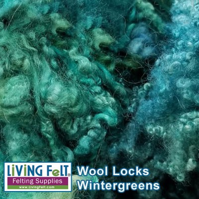 Dyed Curly Locks - Sheep's Wool - Wintergreens