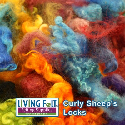 Dyed Curly Locks - Sheep's Wool