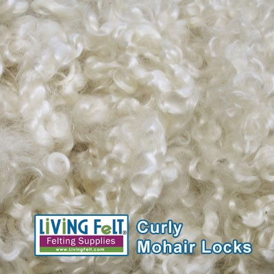 Premium Mohair Locks White