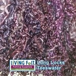 Hand Dyed Teeswater Locks - Mulberry