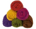 Felting & Needle Felting Wool: Merino Cross Batt – FALL FUN PACK