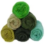 Felting & Needle Felting Wool: Merino Cross Batt  GREENS Studio Pack