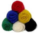 Felting & Needle Felting Wool: Merino Cross Batt – PRIMARY PACK