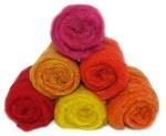 Felting & Needle Felting Wool: Merino Cross Batt  SUMMER ~ FLOWERS Studio Pack