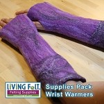 Wet Felting Wrist Warmers - Supplies Pack