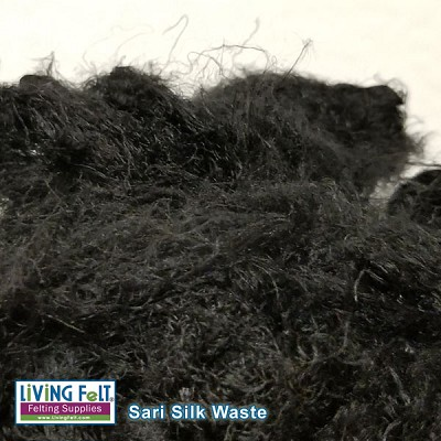 Sari Silk Waste -  Ebony