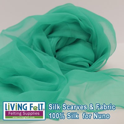 "Silk Gauze Scarf   21"" x 72""   Sea Glass"