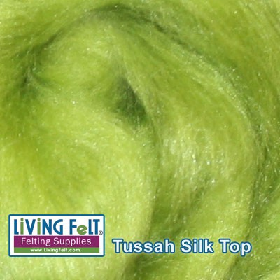 Tussah Silk Top Kiwi