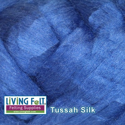 Tussah Silk Top Royal Blue