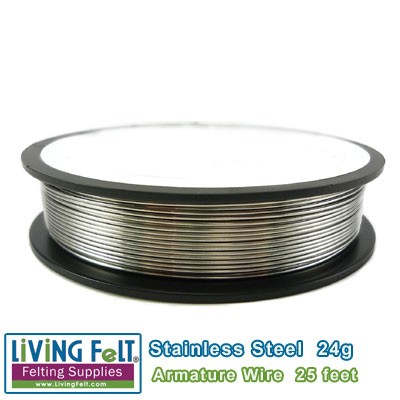 Wire Armature, Stainless Steel 24-Gauge 25feet