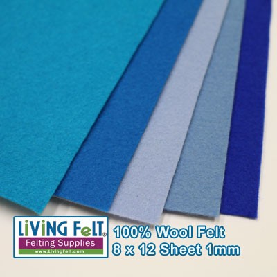 Felt Sheet 8 x 12  - 100% Wool - POWDER BLUE