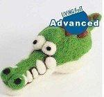 Needle Felting Woolbuddy Alligator