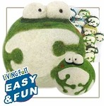Needle Felting Woolbuddy Green Frog Kit
