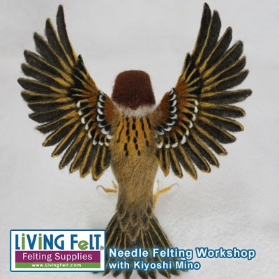 Needle Felting Workshop - Realistic Birds with Open Wings
