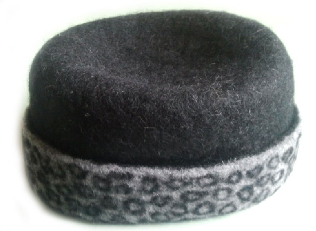 Felted Hat Hat with a brooch Felted Handmade Hat Felted Cap,Eco Fiber Art