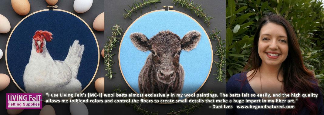 MEDIUM BROWN- American Farm Medium Grade Wool Batt- Needle Felting Wet Felting Spinning