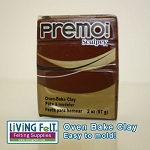 Premo Oven Bake Clay - BURNT UMBER