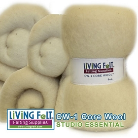 6 Pack CW-1 CORE WOOL for Felting and Needle Felting
