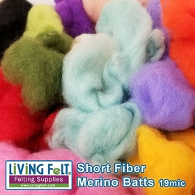 Short Fiber Merino Batt – Goody Bag