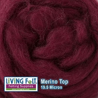 Merino Top – 19.5 Micron – Bordeaux