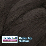 Merino Top – 19.5 Micron – Coffee Bean