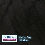 Merino Top – 19.5 Micron – Ebony