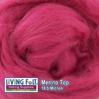 Merino Top – 19.5 Micron – Raspberry