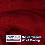 NZ Corriedale Wool – Cherry Red
