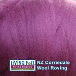 NZ Corriedale Wool – Orchid