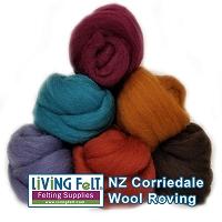 NZ Corriedale Wool Roving for Felting 1 Ounce Pumpkin