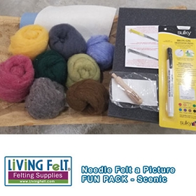 Needle Felt a Picture Fun Pack - Scenic