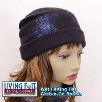 DIGITAL DOWNLOAD Wet Felting Hat - Grab-n-Go Beanie