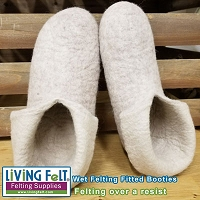 Wet Felted Slippers Tutorial PDF