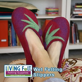 Wet Felting Slippers Kit