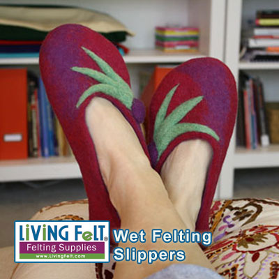 1a0319cbb8e5a Felted Slippers Kit, Wet Felting Slippers or Booties Tutorial and Kit
