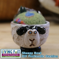 Sheepy Bowl - Hand Thrown - DIY Pin Cusion