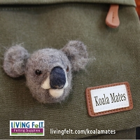 Needle Felting Kit: Koala Mates