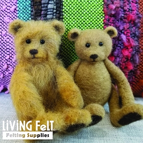 Needle Felting Kit: Vintage Bear with String Joints