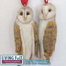 Needle Felting Kit: Barn Owl Ornament