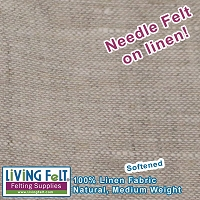 Linen Fabric Softened - Natural  59