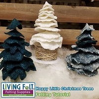 FREE Wet Felting Tutorial: Happy Little Christmas Trees PDF
