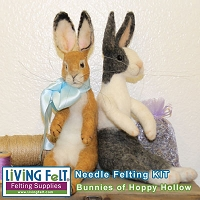 Needle Felting Bunnies of Hoppy Hollow Kit