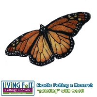 Needle Felting: Monarch Butterfly Picture PDF