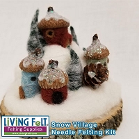 Needle Felting Kit: Snow Village