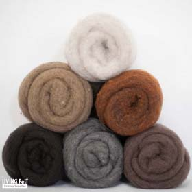MC-1™ Merino Cross Batt: EARTH TONES Studio Pack