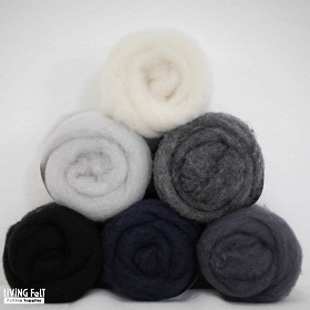MC-1™ Merino Cross Batt: MONOCHROME Studio Pack